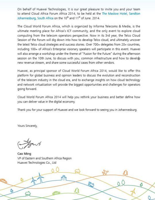 Huawei Invite.JP agenda.JPG letter